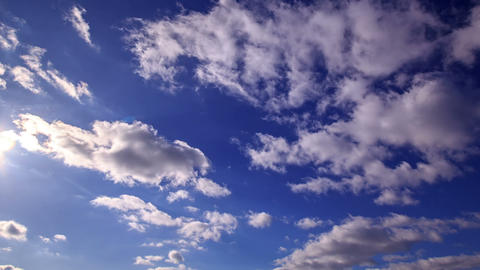 Blue sky with clouds. Time Lapse Footage