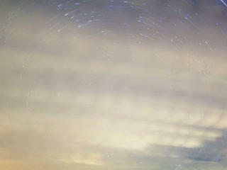 Stars leave traces. Time Lapse. 320x240 Footage