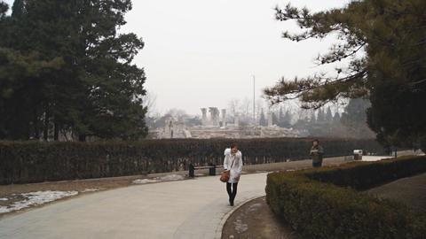 China Beijing Park Yuanmingyuan 26 Footage