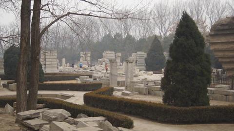 China Beijing Park Yuanmingyuan 28 Footage