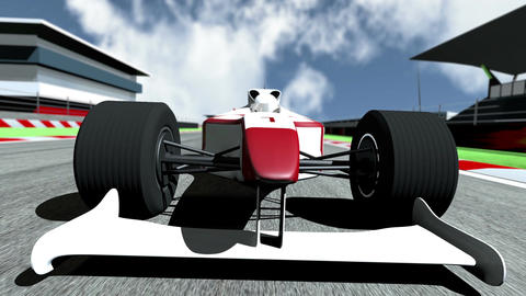 Formula 1 Car On Race Track V5 2 stock footage