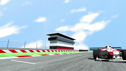 Formula 1 Car on Race Track v6 2 Animation