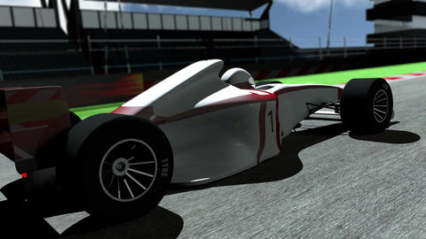 Formula 1 Car on Race Track v3 2 Animation