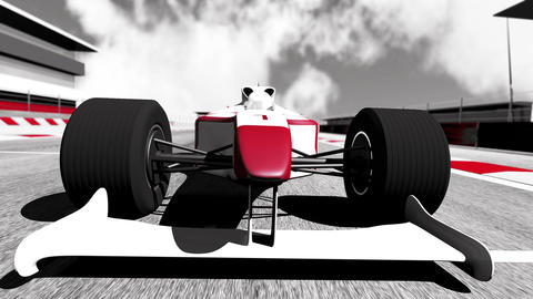 Formula 1 Car on Race Track v5 3 Animation