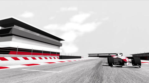 Formula 1 Car on Race Track v6 3 Animation