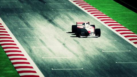 Formula 1 Car on Race Track v7 5 Animation