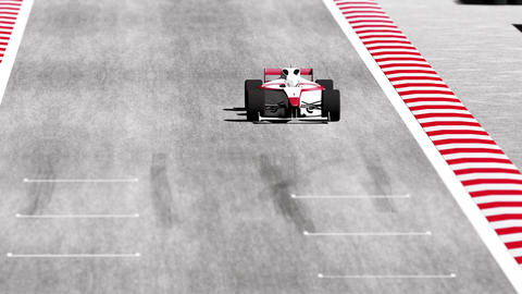 Formula 1 Car on Race Track v7 3 Animation