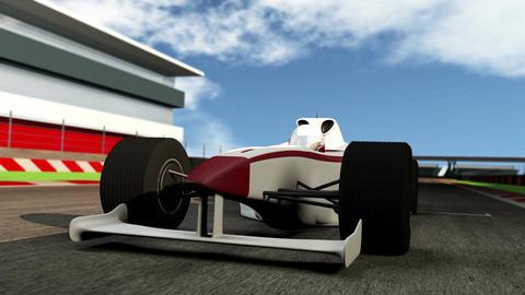 Formula 1 Car on Race Track v1 1 Footage