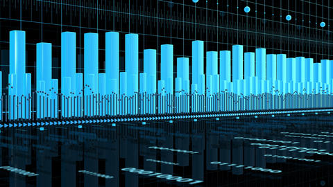 Stock Market Chart - Business Analysis Animation