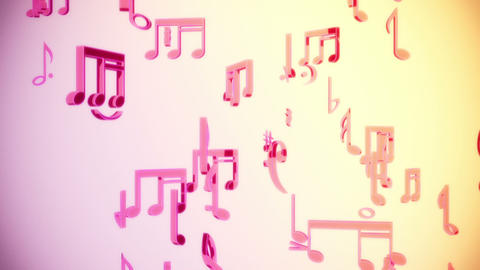 Toon Musical Notes stock footage