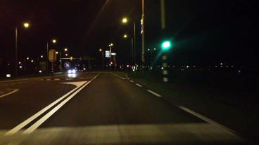 Highway Drive Midnight Drive Fast stock footage