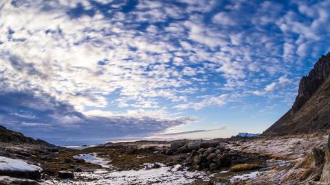 Wolkenformation auf den Lofoten Footage