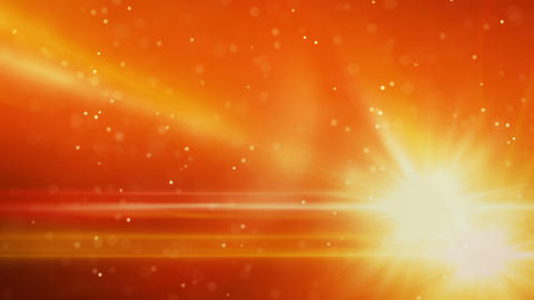 orange light flares and particles loop background Animation