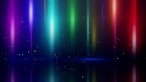 colorful light stripes and reflection loopable bac Animation