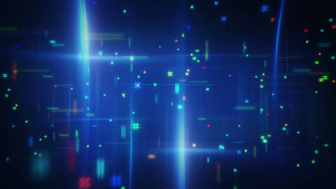 abstract information techno loopable animation Animation