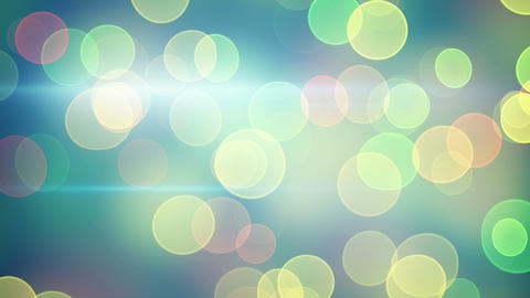 bright green yellow bokeh lights loopable backgrou Animation