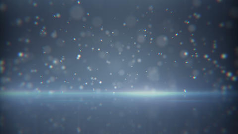 flying particles and reflection loop background Animation