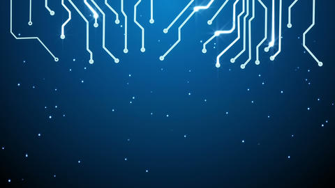 blue circuit board and empty space loop Animation
