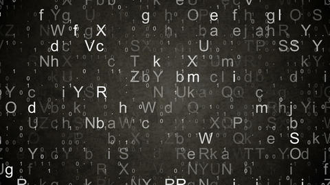 numbers and letters data loopable background Stock Video Footage