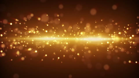 gold light stripe and particles loopable backgroun Animation