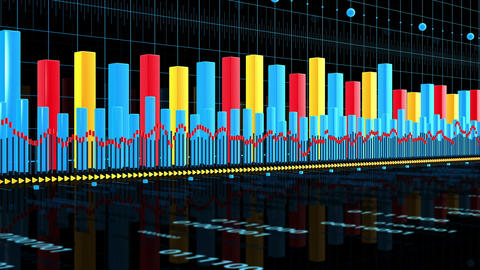 Business Data Graph stock footage
