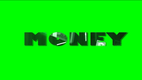 Word Fantasy colorful moving on Green Screen HD Stock Video Footage