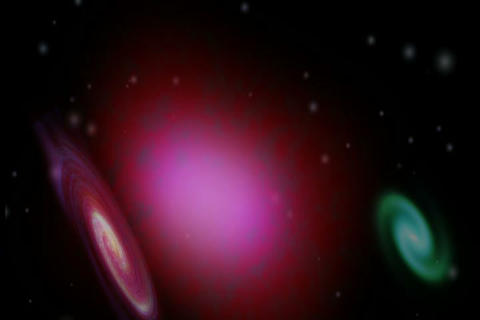 Flying Through Galaxies Animation
