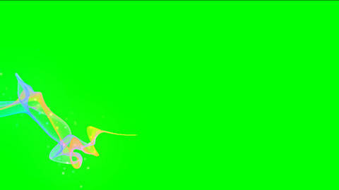Magic Particles On Green Screen HD stock footage