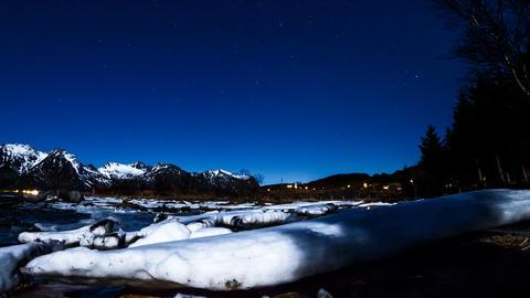 Nacht auf den Lofoten Footage