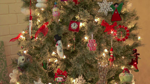 Christmas Tree And Presents stock footage