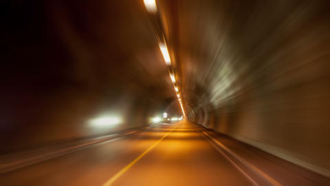Driving through a Long Tunnel, timelapse, 4K Footage