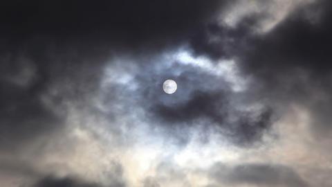 Sun behind overcast cloud. 1280x720 Footage