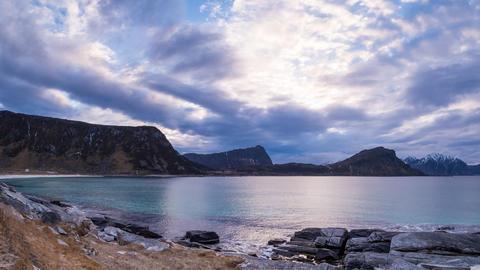 Wolken auf den Lofoten Footage