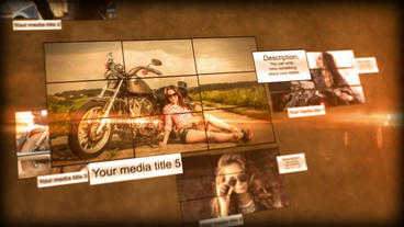 Mosaic Media After Effects Template