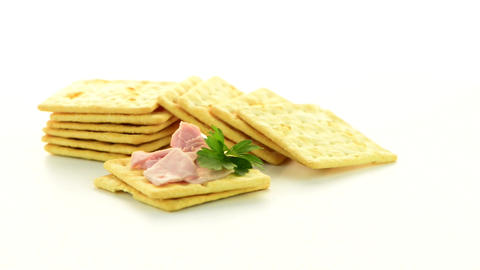 Cracker Cookies Appetizer stock footage