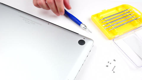 Laptop Repair stock footage