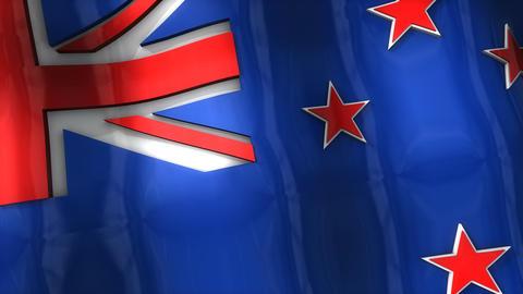 3D flag, New Zealand Animation