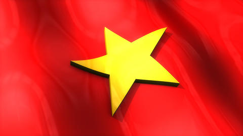 3D flag, Vietnam Animation