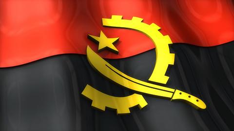 3D flag, Angola Animation
