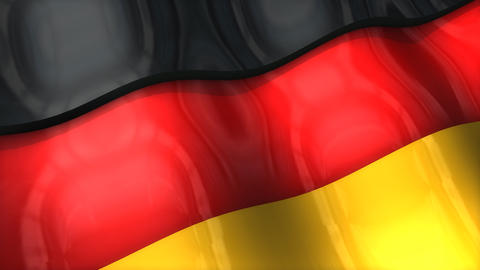 3D flag, Germany Animation
