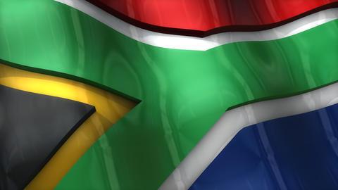 3D flag, South Africa Animation