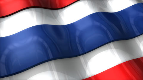 3D flag, Thailand Animation