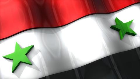 3D flag, Syria Animation