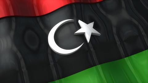 3D flag, Libya Animation
