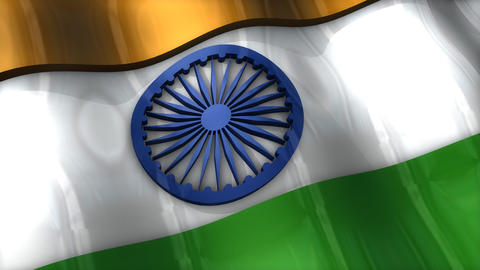 3D flag, India Animation