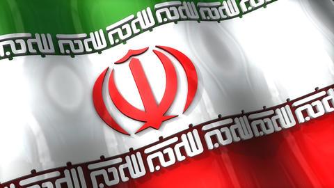 3D flag, Iran Animation