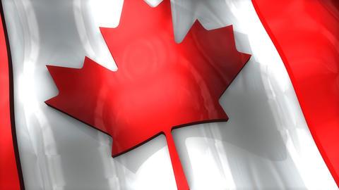3D flag, Canada Animation