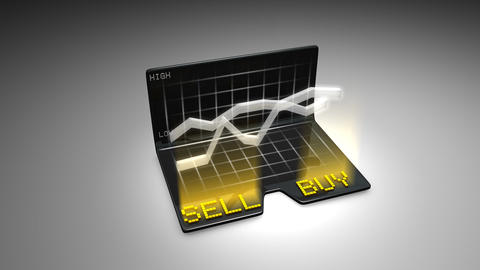Buy and Sell stock concept animtion Animation