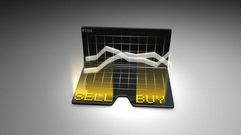 Buy and Sell stock concept animtion Stock Video Footage