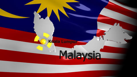 Crisis Location Map Series, Malaysia stock footage
